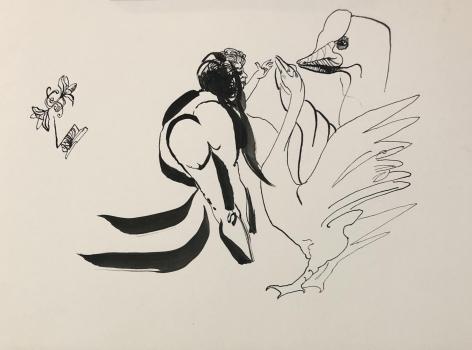 Leda by Carlos Franco at Hg Contemporary art gallery