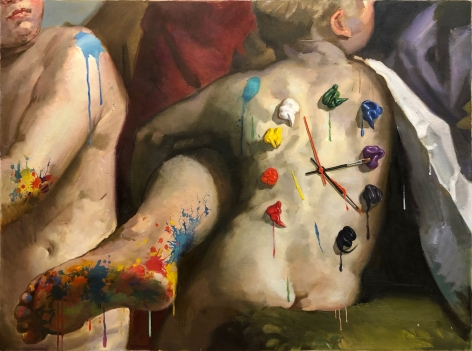 No Time to Waste by Arsen Savadov at Hg Contemporary art gallery