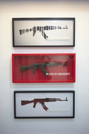 Box framed prints of AK47's