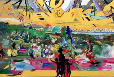 Camino Recto entre Sauces by Carlos Franco at Hg Contemporary art gallery