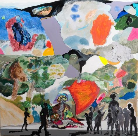 NIÑOS VISITANDO EL GRAN CUADRO DE CARLOS FRANCO EN EL MUSEO WALDORFFER by Carlos Franco at Hg Contemporary art gallery