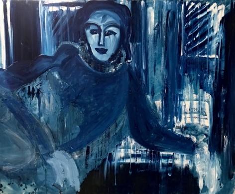 Lady in Riviera Window by Conor McCreedy