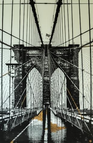 Brooklyn Bridge by Tim Bengel at Hg Contemporary art gallery