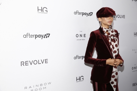 Zendaya attends the Fashion Media Awards with Hg Contemporary art gallery