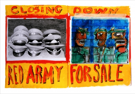Red Army by Dan Eldon at Hg Contemporary, founded by Philippe Hoerle-Guggenheim
