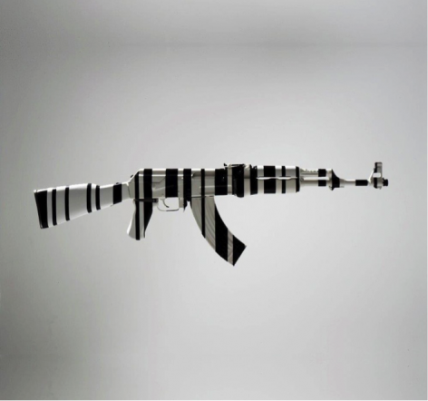 AK47 from One Less Gun by McCrow at Hg Contemporary art gallery in Chelsea, Founded by Philippe Hoerle-Guggenheim
