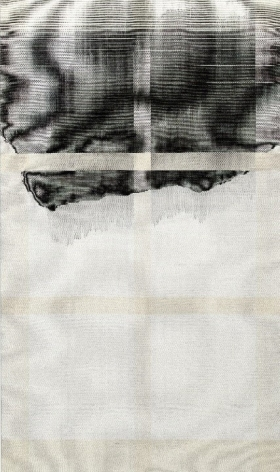 CHA Seungean, TwillStain 5, 2017, cotton yarn, polyester yarn, dye, 162 x 97 cm