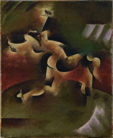 Vladimir Davidovich Baranov-Rossiné (1888–1944), Gypsy Dancer, 1914, oil on canvas, 46 x 38 cm / 18.11 x 14.96 in.