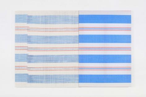 CHA Seungean, Tent-5, 2014, cotton yarn, polyester yarn, tent, dye, 73 x 100 cm / 28.74 x 39.37 in.