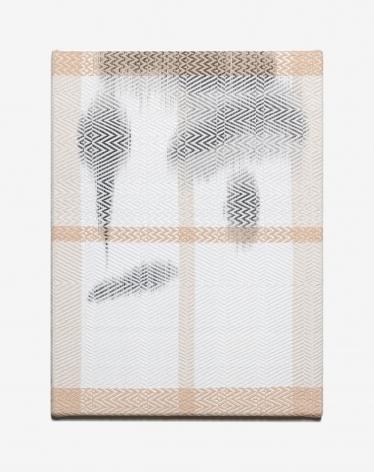 CHA Seungean, Complex twill-g1, 2017, cotton yarn, polyester yarn, dye, 61x46 cm