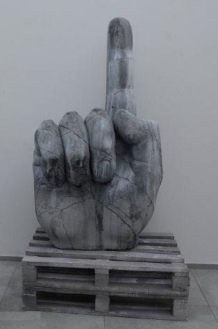 Hand, 2014, styrofoam and acrylic paint, 203 x 120 x 170 cm, Ed. /6