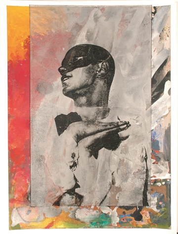 Roger Pfund, Nijinski, 2005, pigments, colle, carton, impression, taille-douce, aquatinte, encrage creux et surfaces, collage sur papier, signé « RPfund 05 », 110 x 80 cm