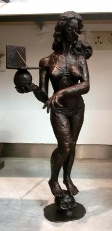 Pinocchio's mother, 2015, bronze casting, 67 x 20 x 25 cm, Ed. /6