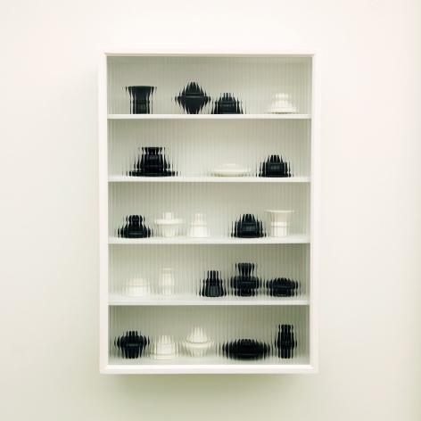 JU SEKYUN, Cupboard #7, 2017 Ceramics, wood, special glass 61 x 20 x 91 cm