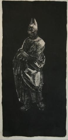 Batman, 2008, drypoint engraving, 200 x 100 cm, Ed. /10 + 1 AP