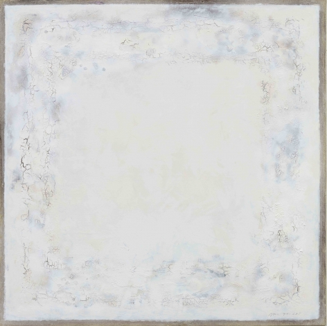 YOUN Myeung-Ro, Crack 625, 1979, mixed media on linen, 112 x 112 cm / 44.09 x 44.09 in.
