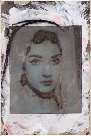 Roger Pfund, Callas, 2012, pigments, colle, impression, taille-douce, aquatinte, encrage creux et surfaces sur papier, signé « RPfund 12 », 97 x 66.5 cm