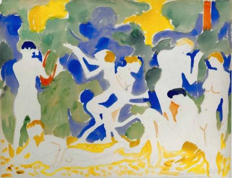André Derain (1880–1954), La Musique, ca. 1904–1905, watercolour and pencil on paper, 50 x 64.6 cm / 19.68 x 25.20 in.