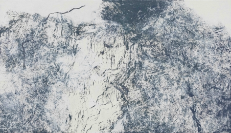 YOUN Myeung-Ro, Windy day MXV-320, 2015, acrylic on linen, 112 x 194 cm / 44.09 x 76.38 in.