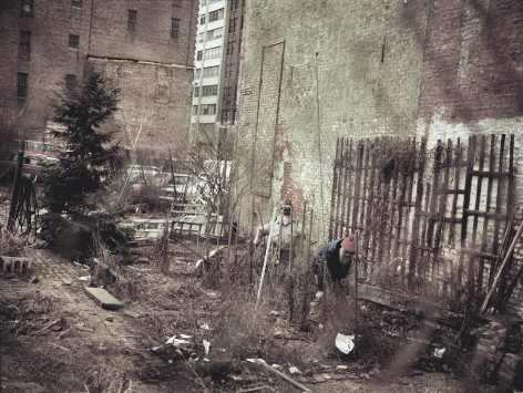 Max Kozloff- Man with Scarecrow