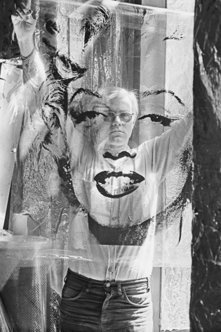 William John Kennedy- Warhol Holding Marilyn Acetate II