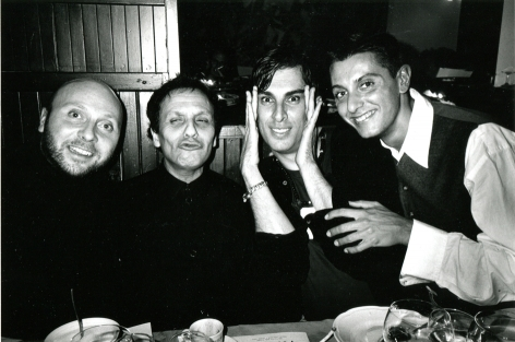 Roxanne Lowit, Domenico Dolce, Azzedine Alaia, Rifat Ozbeck and Stefano Gabbana, Milan
