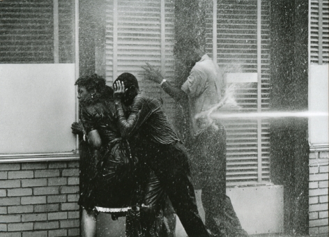 Charles Moore- Alabama Fire Department Aims High-Pressure Water Hoses at Civil Rights Demonstrators