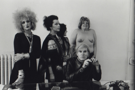 Fred W. McDarrah- Andy Warhol and Factory Actresses Candy Darling