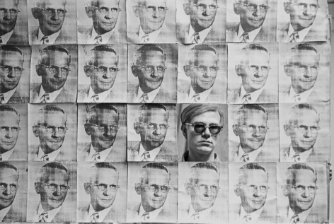 William John Kennedy- Andy Warhol Looking Through American Man