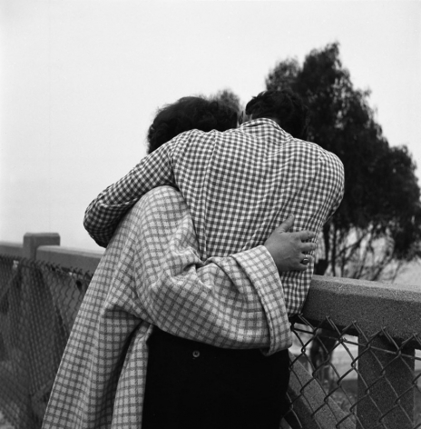 Vivian Maier- Untitled (Couple Embracing with Checkered Clothing)