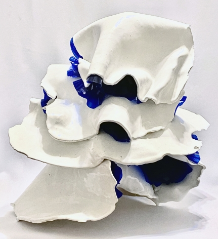 KRISTINA LARSON, Draping in White and Blue, 2020