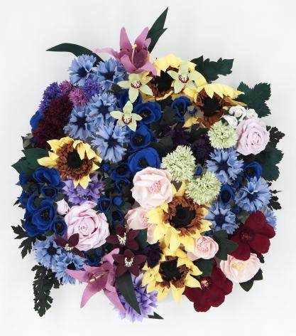 CARLTON SCOTT STURGILL, Arrangement in Sunflowers, Anemonies and Cornflowers, 2021