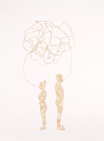 NIKKI ROSATO If I paint us (in gold) V, 2017