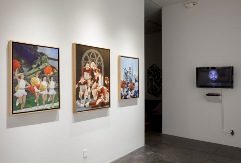 NO DEAD ARTISTS III 18th Annual International Juried Exhibition of Contemporary Art, [Middle Gallery Installtion View]