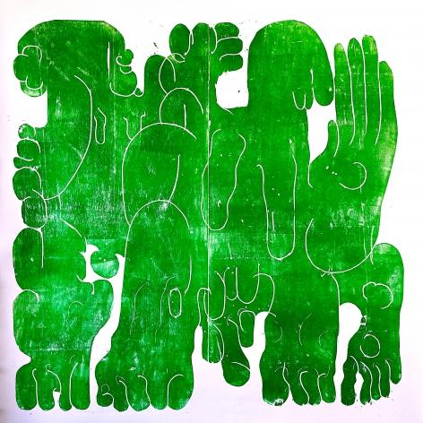 BARBARA KUEBEL, Green bodies/ colour green,2021
