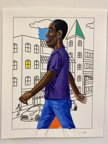 LAMAR PETERSON, Crossing 4th Street, 2021