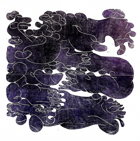 BARBARA KUEBEL, Dissolving the outehr Skin/ colour violett (purple), 2021
