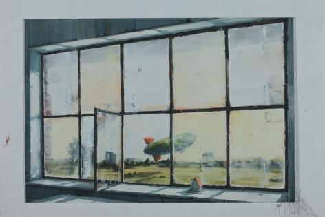 SVEN KRONER Atelerfenster Lörick, 2014