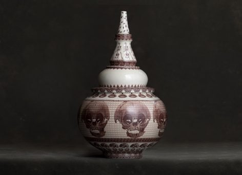 PETER OLSON, Jar with Skulls, 2019