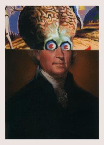 ADAM MYSOCK Early American Aliens (Thomas Jefferson), 2016
