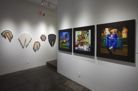 NO DEAD ARTISTS III 16th Annual National Juried Exhibition of Contemporary Art, [Middle Gallery Installtion View]