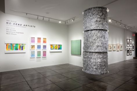 NO DEAD ARTISTS III 18th Annual International Juried Exhibition of Contemporary Art, [Main Gallery Installtion View]