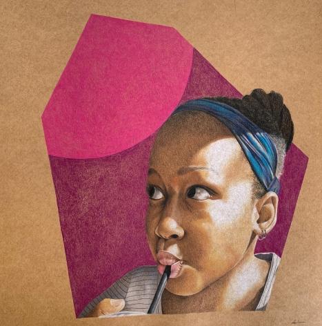 ADRIENNE BROWN-DAVID  Bijou, 2019  colored pencil on paper  12h x 12w in