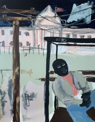 JAMMIE HOLMES, Bus Stop At The White House, 2019