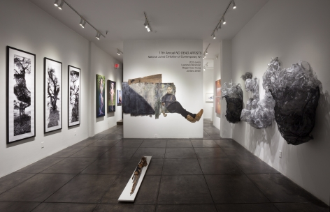NO DEAD ARTISTS III 17th Annual National Juried Exhibition of Contemporary Art, [Main Gallery Installtion View]