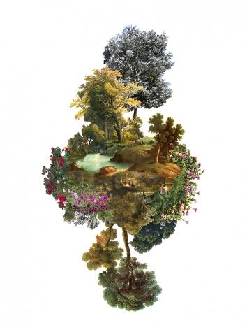 JULIA ROMANO  Cultural Landscapes XXVI, 2020  inkjet print on cotton paper  39.37h x 39.37w in 100h x 100w cm  edition 2/7