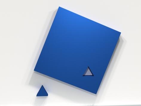 LORI COZEN-GELLER, Piece (blue), 2020