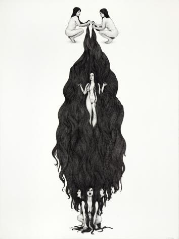 MONICA ZERINGUE, Ophelia Descending, 2012