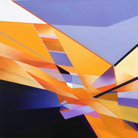 MARNA SHOPOFF, Abstraction No.2 (cadmium orange and violet), 2020