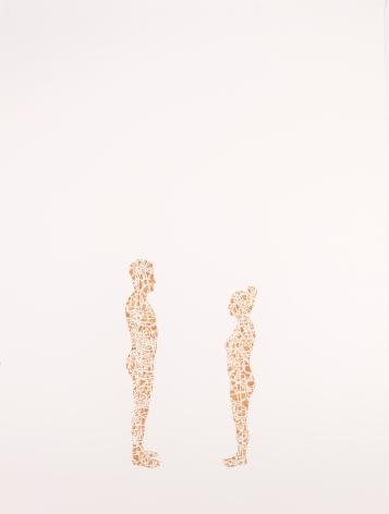NIKKI ROSATO If I paint us (in gold) IV,2017